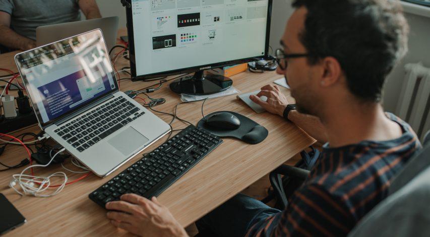UI designer in action